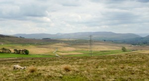 A pylon at Shap where the man was working