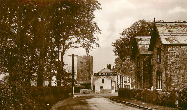 A postcard showing Goosnargh Village as it was