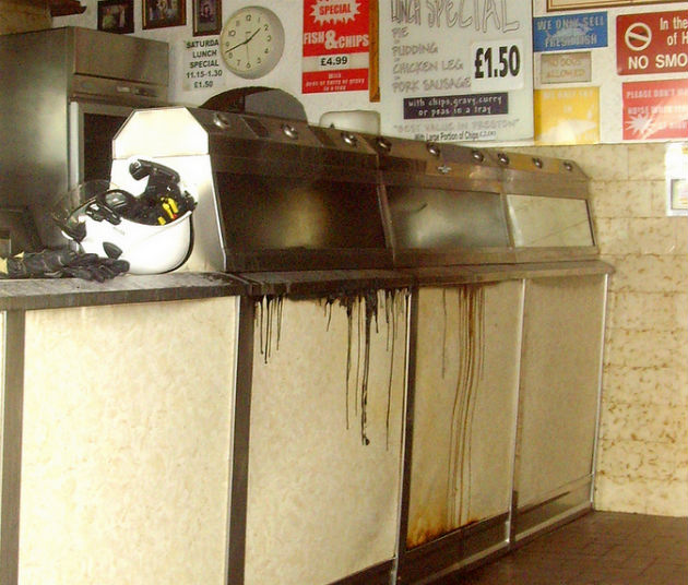 Tony Worrall got this photo inside Umberto's after the fire