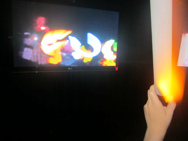 Volatile light is a new exhibition at the Harris, complete with hands-on light makers for kids