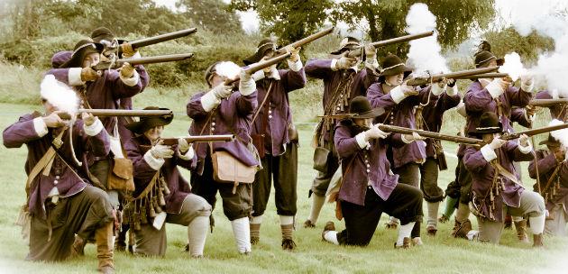 Musket fire from last year's battle re-enactment at Woodplumpton Fete