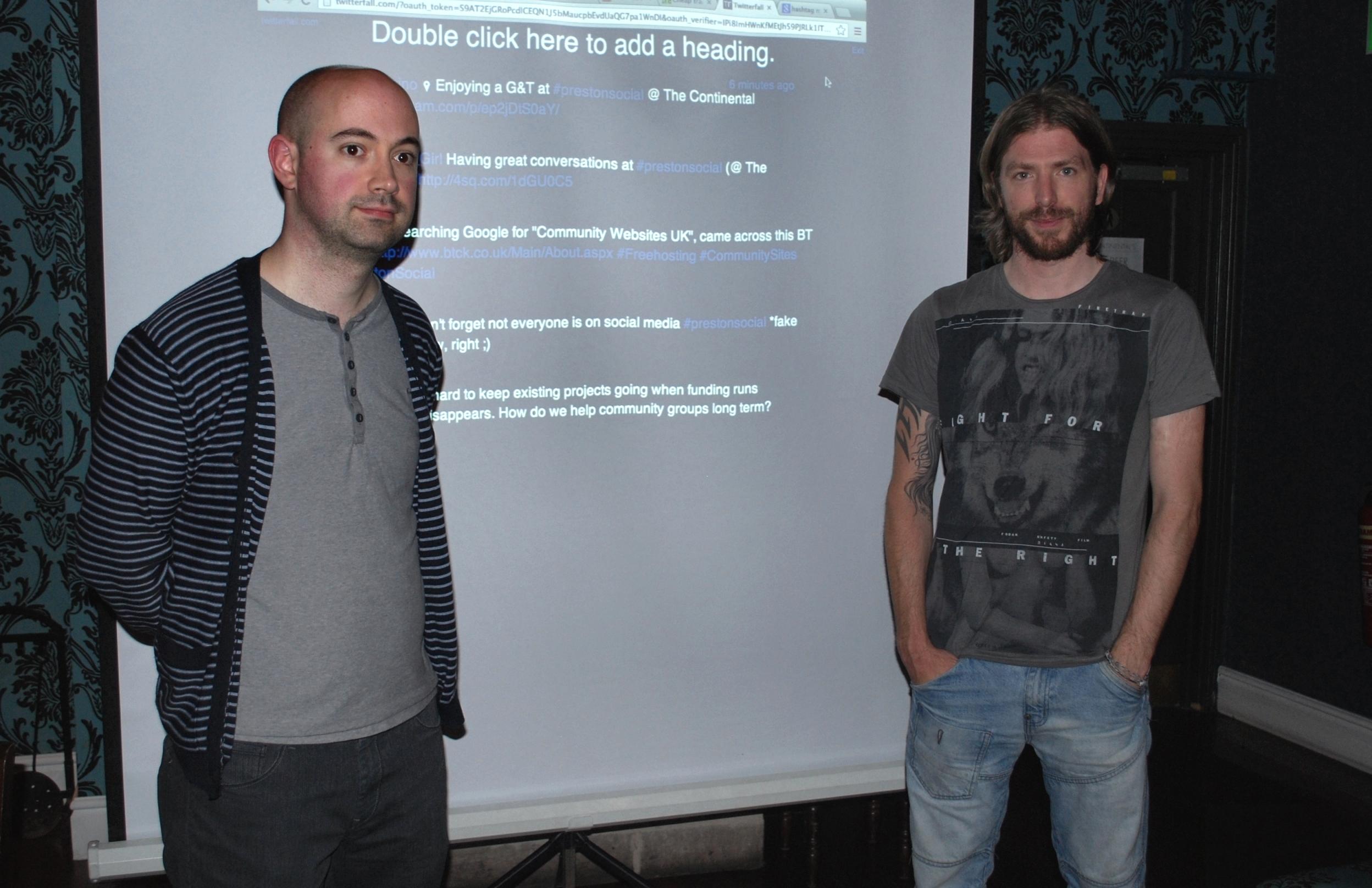 PrestonSocial Event With PCC's Matt Stanton & Event Organiser,Tom Stables At Continental Hotel, Preston