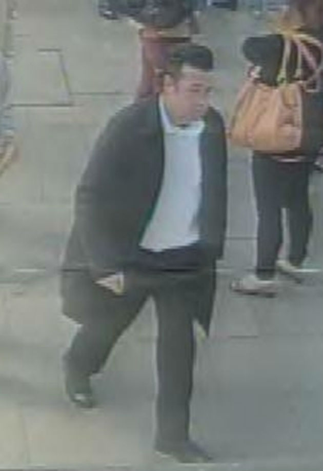 A CCTV image of the man police would like to speak to