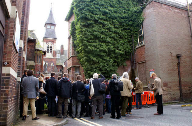 The group visit the former Mount Street Hospital