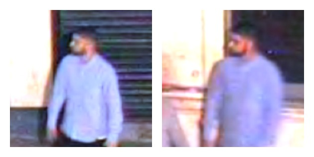 Images of the man police would like to speak to. He was on Glovers Court before the incident.