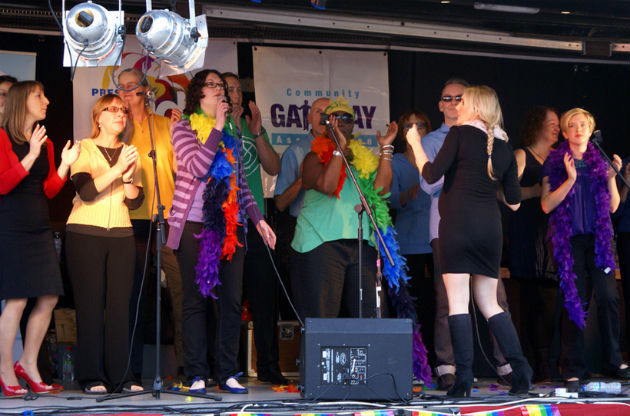 One Voice Community choir at the Pride
