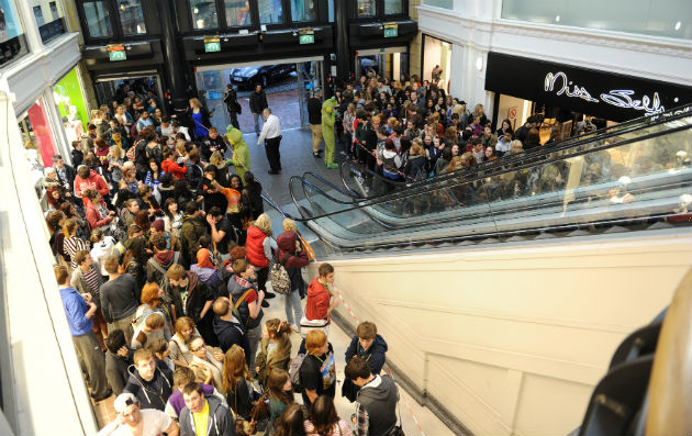 Crowds at last year's student lock-in
