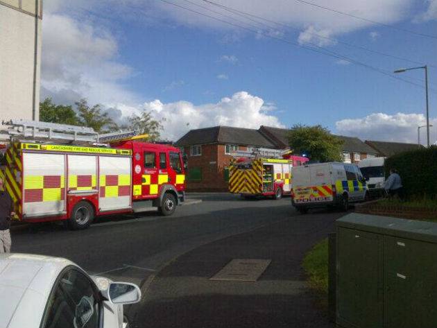 Preston station manager Shaun Walton tweeted a photo of fire engines at the scene