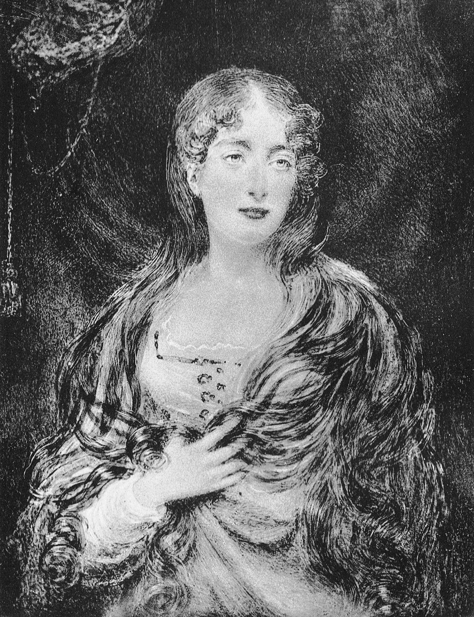 Lady Shelley from a miniature by G. Sanders in the possession of Spencer Shelley Esq.