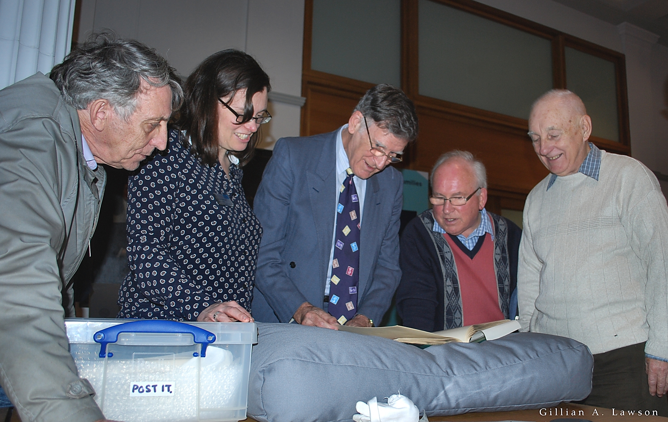 Paul Gaywood, Emma Heslewood & Members Of The Philatelic Society