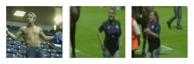 CCTV images of the man and woman police would like to speak in connection with disorder at Deepdale