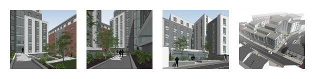 Artist impressions of the Friargate Court development