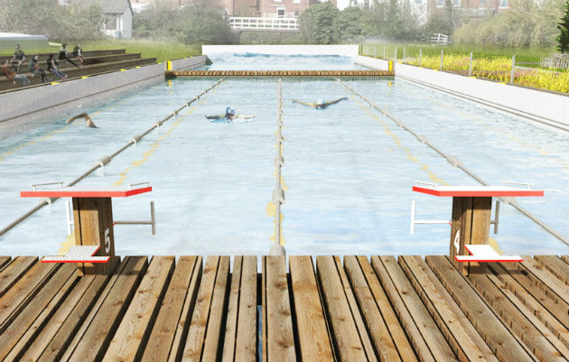 A view of how the lido at the canal basin could look