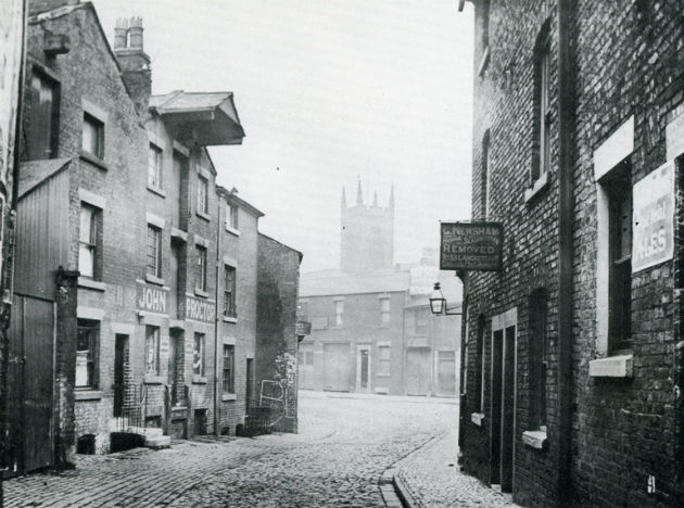 Lills Court, a narrow lane ran between Friargate and Back Lane.
