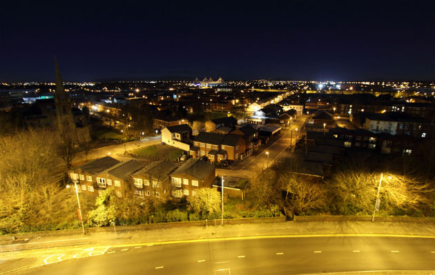 While you sleep, the Ringway is empty at the dead of night