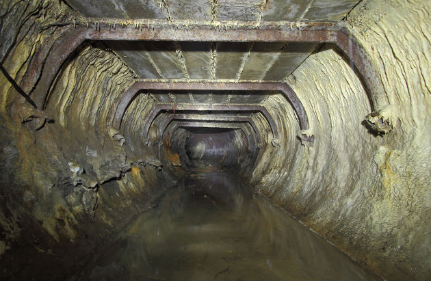 A view of a drain under Preston