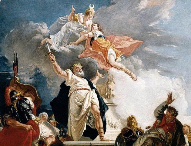 Fontebasso's painting depicting the sacrifice of Iphigenia