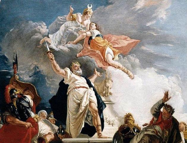 Fontebasso's painting depicting the sacrifice of Iphigenia