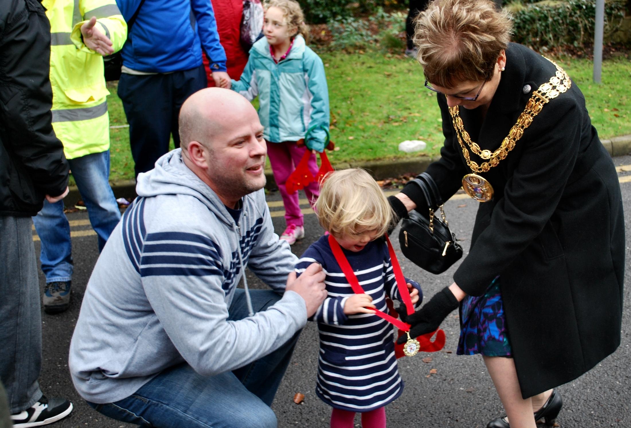 Little Reindeer Receives Her Medal