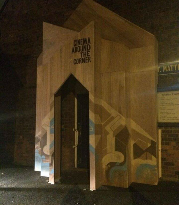 Entrance to St Matthew's Mission during the project