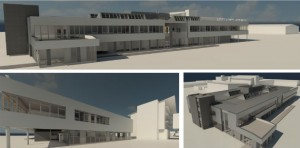 Artist impressions showing how the new engineering building could look