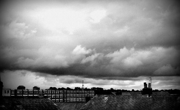 Stormy sky over Preston
