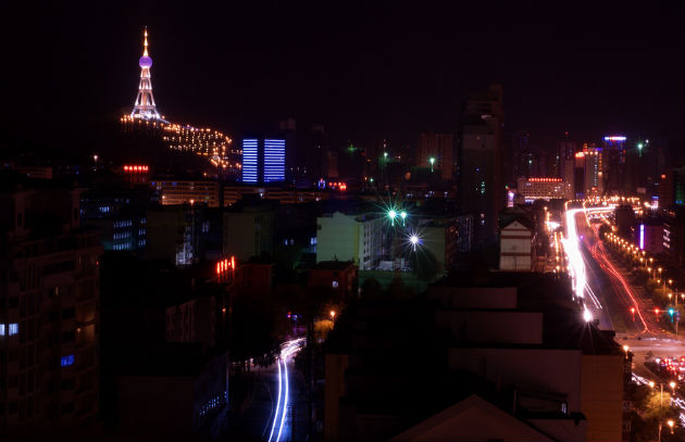 Xining at night
