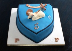 Our Blog Preston birthday cake, made by the wonderful Sarah Cook