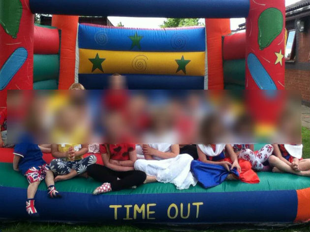 The bouncy castle stolen from the community group