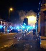 The blaze at a takeaway on New Hall Lane in January
