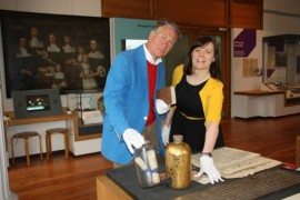 Michael Portillo and Emma Heslewood