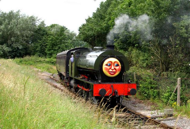 Steam engine running on the Ribble Steam Railway