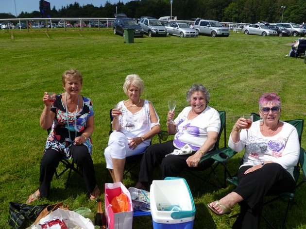 The girls at the Carmell Races, 2011