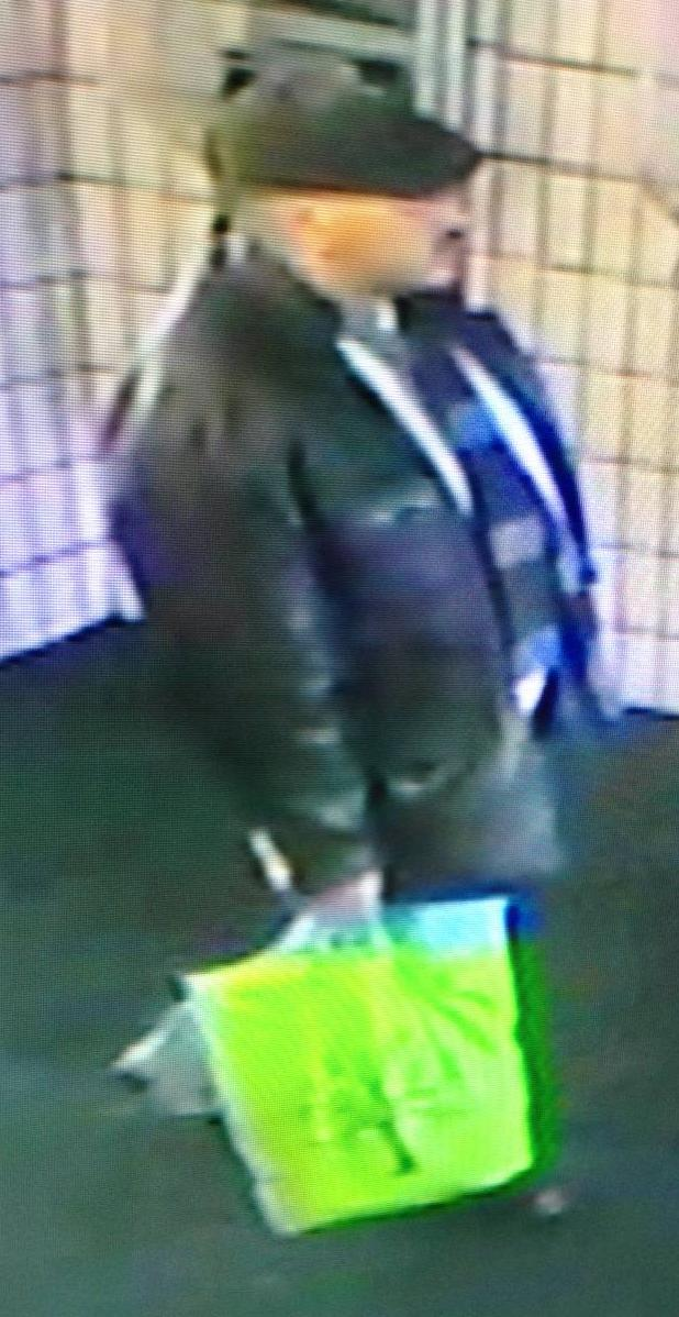 Picture from CCTV at Preston Bus Station