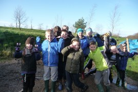 Cubs Enjoying their trip at  Beacon Fell