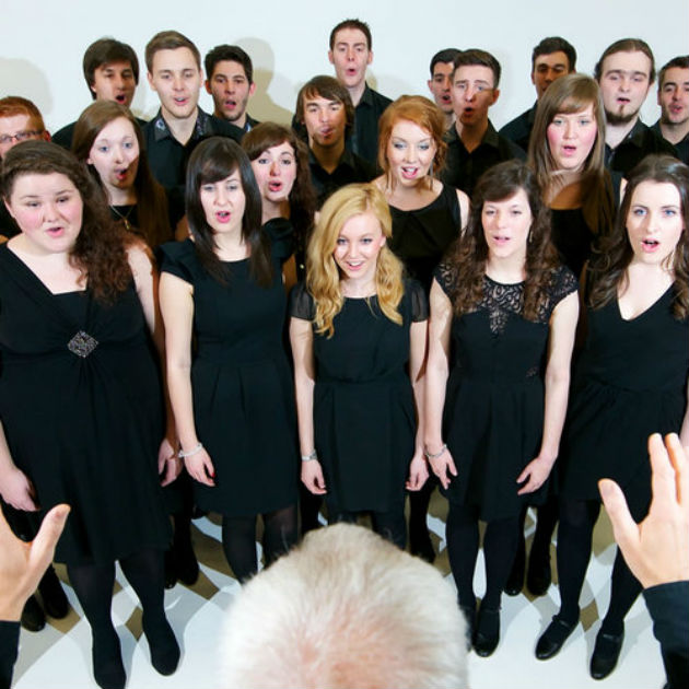 Music undergraduates in the UCLan chamber choir