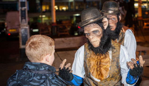 Like something you'd see on a night out in Burnley? Entertainers out for PrestFest