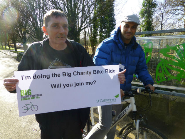 Mick and his pal Andy Murray are to take on the cycle challenge