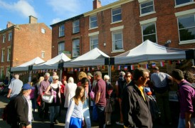 The Winckley Square Food Festival in 2012 drew hundreds of visitors down into the square