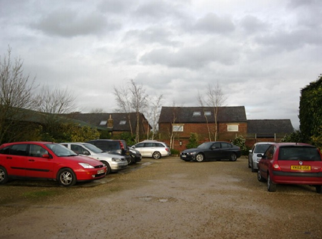 Current buildings and car park on Eaves Lane