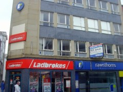 The currently vacant offices above Ladbrokes on Lune Street