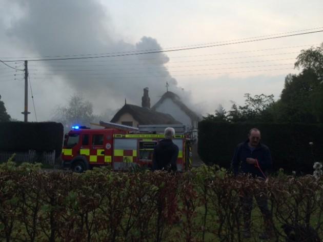 The fire near Howick Cross Lane in Penwortham