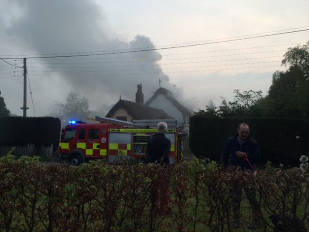 The fire near Howick Cross Lane in Penwortham