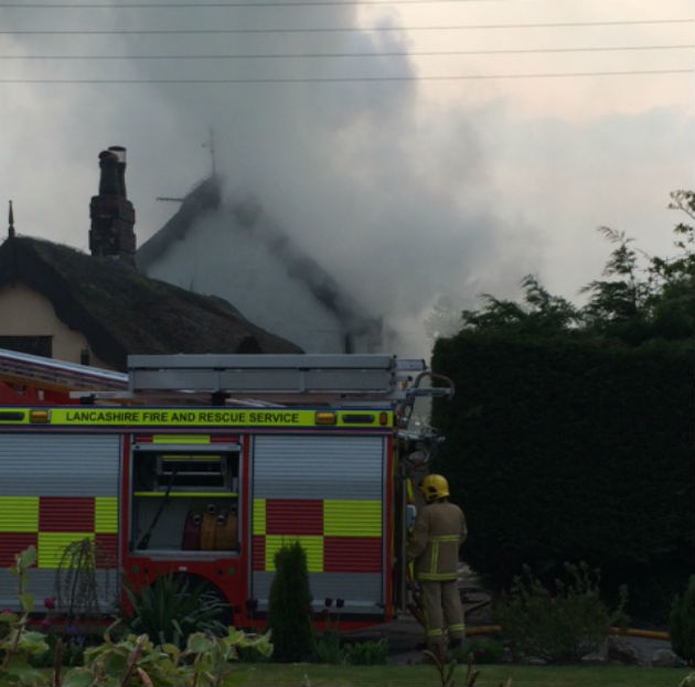 Roof Of Penwortham House Goes Up In Flames