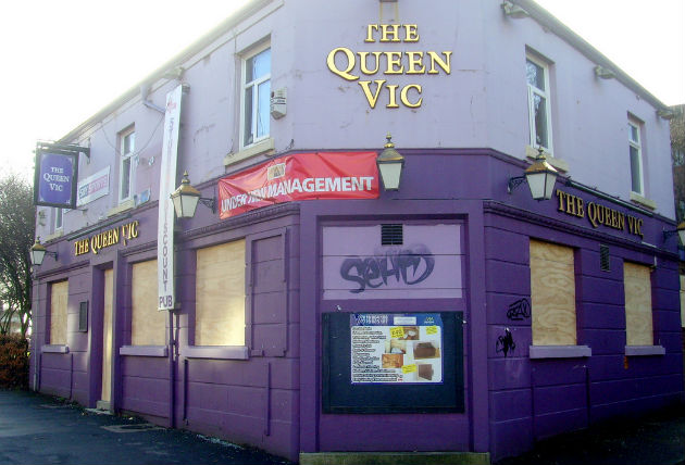 The Queen Vic on Moor Lane has been boarded up for a number of years