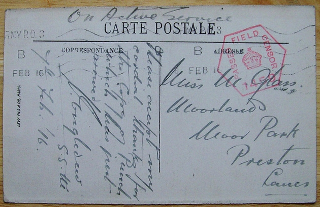 war postcard