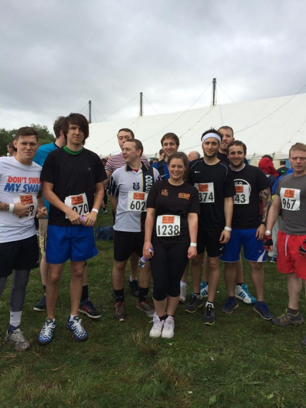 The team before the challenge