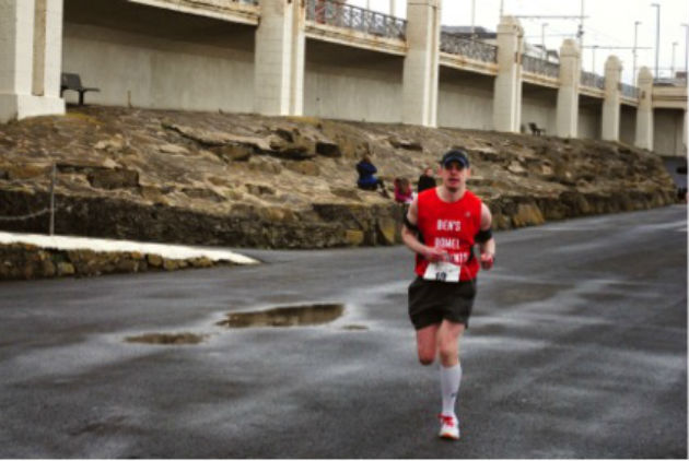 Ben at Blackpool Marathon