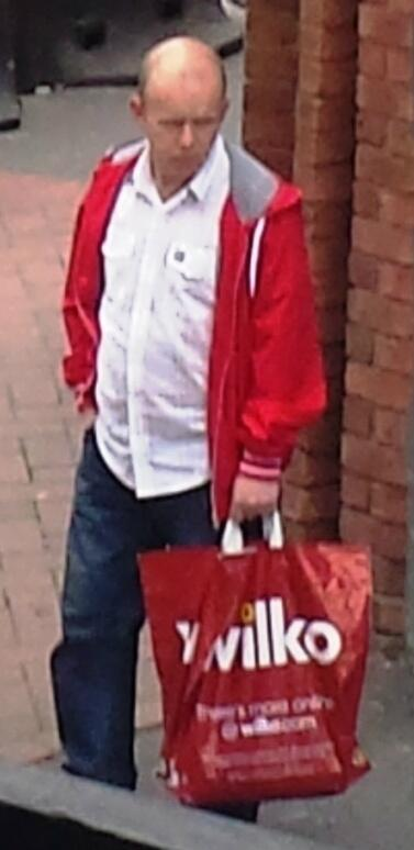 The man pictured on CCTV