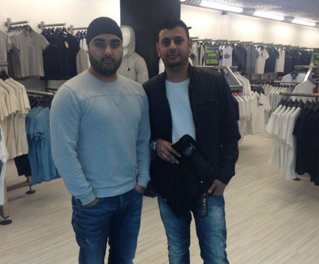 Retail managers Jay Gurjee and Mitz Singh